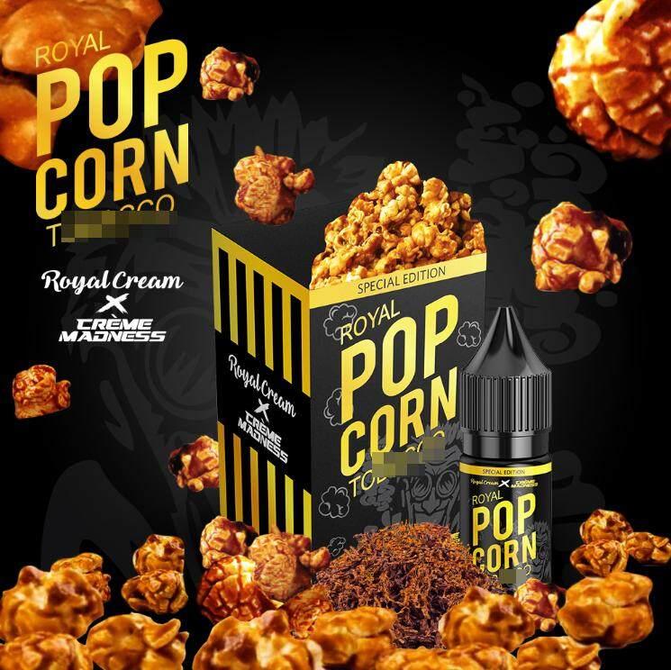 ( Salt ) Creme Madness X Royal Cream Royal Popcorn Tobego Salt 10ML Vape Juice Ready Stock New Name Malaysia