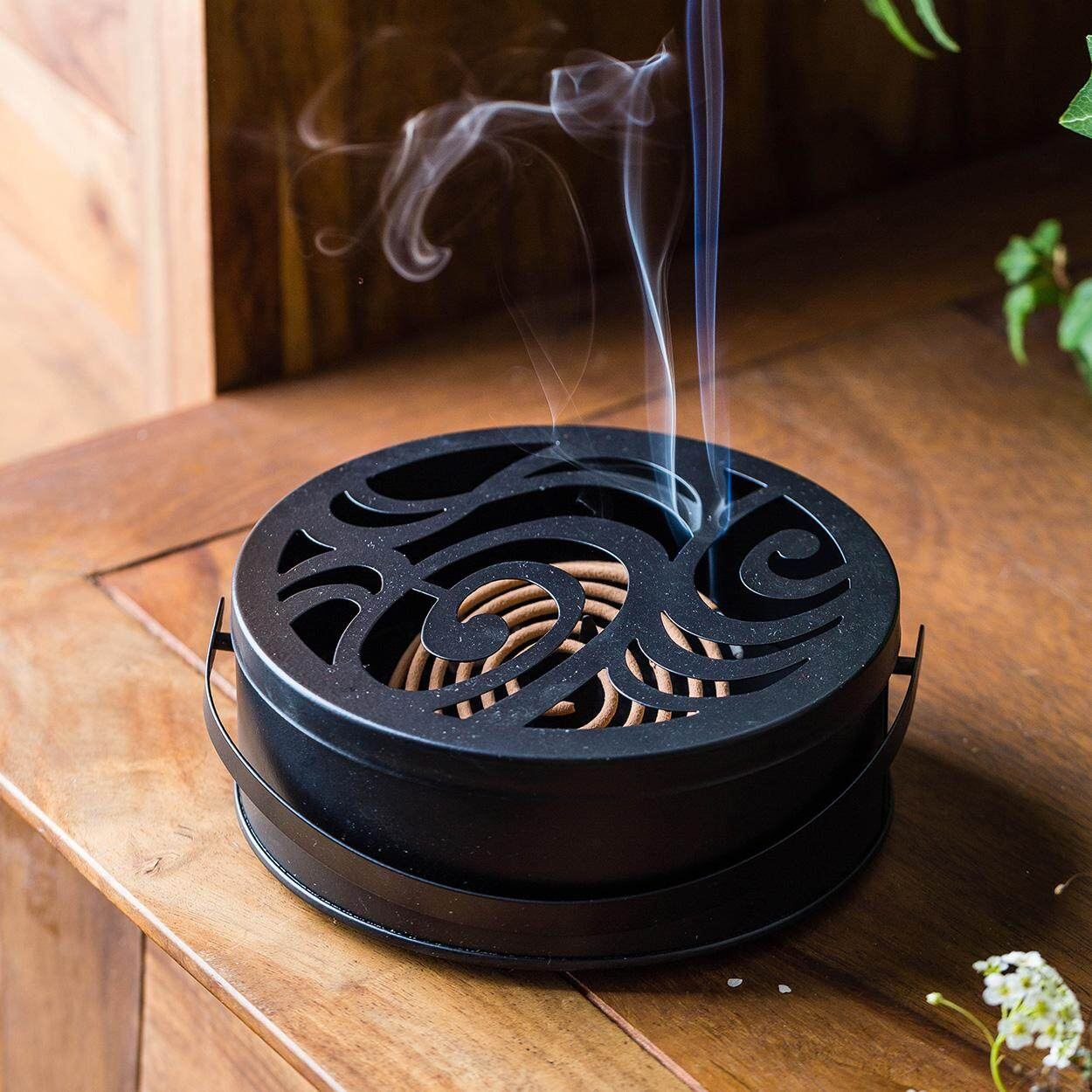 MONAZONE Creative Mosquito-repellent incense holder Japanese retro portable aromatherapy stove