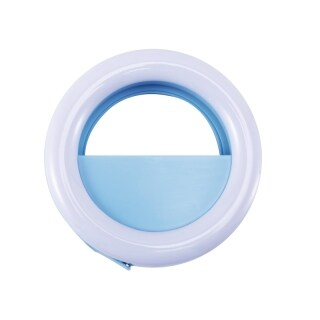 Clip-on Selfie Ring Light for Cellphones, USB Rechargeable LED for iPhone Samsung Galaxy and all kinds of Cellphones and computers, skin decoration and brighten fill light thumbnail