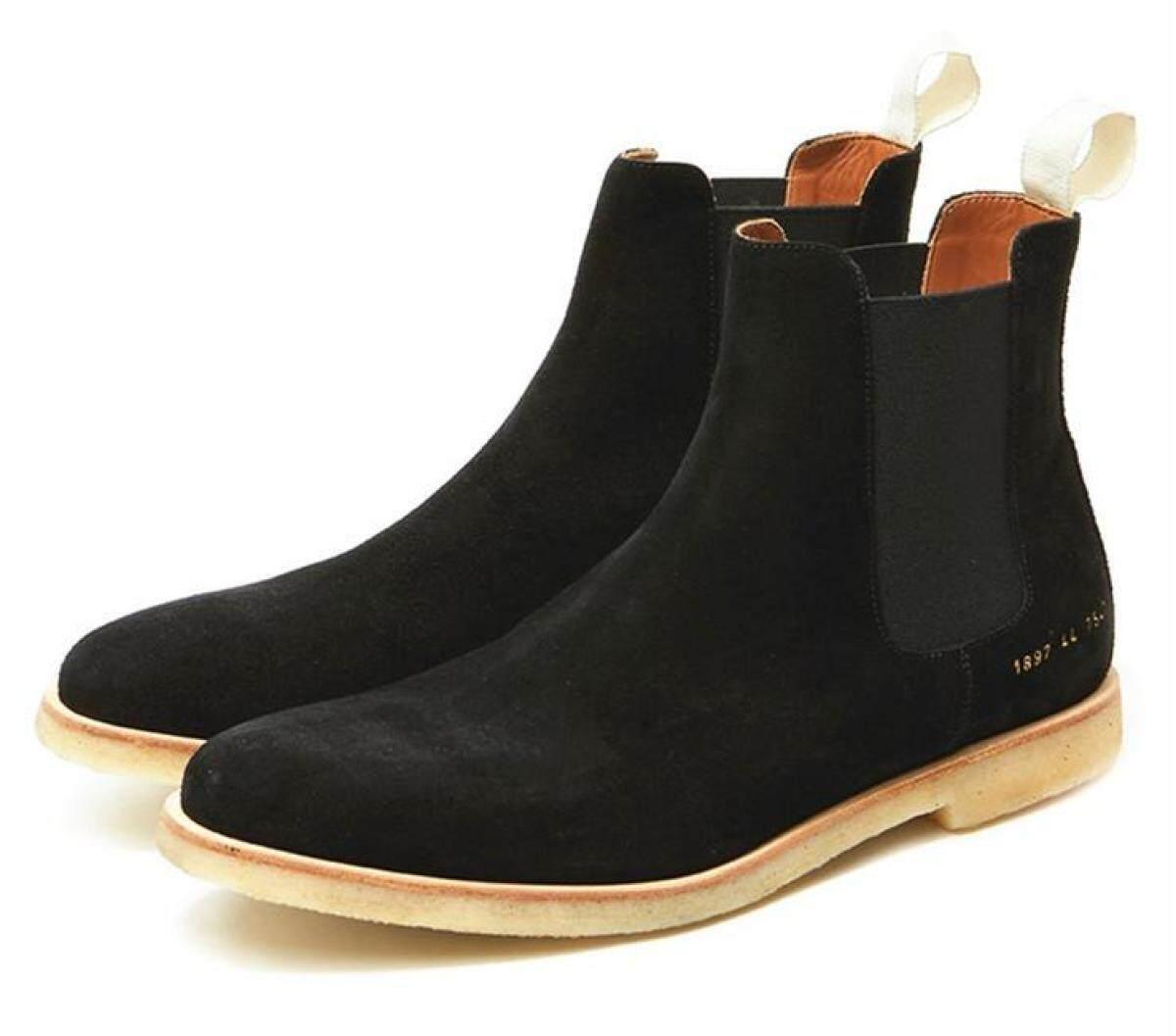 England Big Talker Chelsea Boots Men's Short Boots Leather Pointed Versatile Black Vintage Hight-top Martin Shoes Men's Boots Fashion