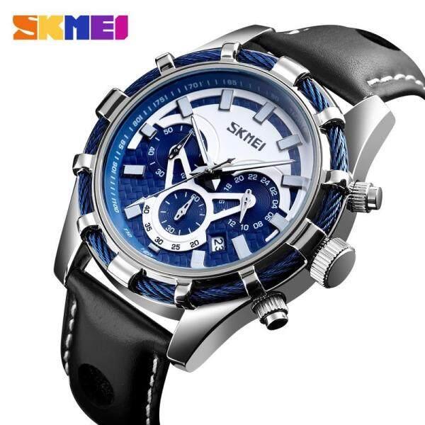 SKMEI Men Watch Original Leather Retro Waterproof Wrist Watch For Man Men jam tangan lelaki 9189 Malaysia