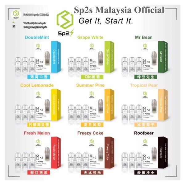 Sp2 Sp2s Vape Pod Refill Flavour Relx compatible Ori Malaysia Malaysia