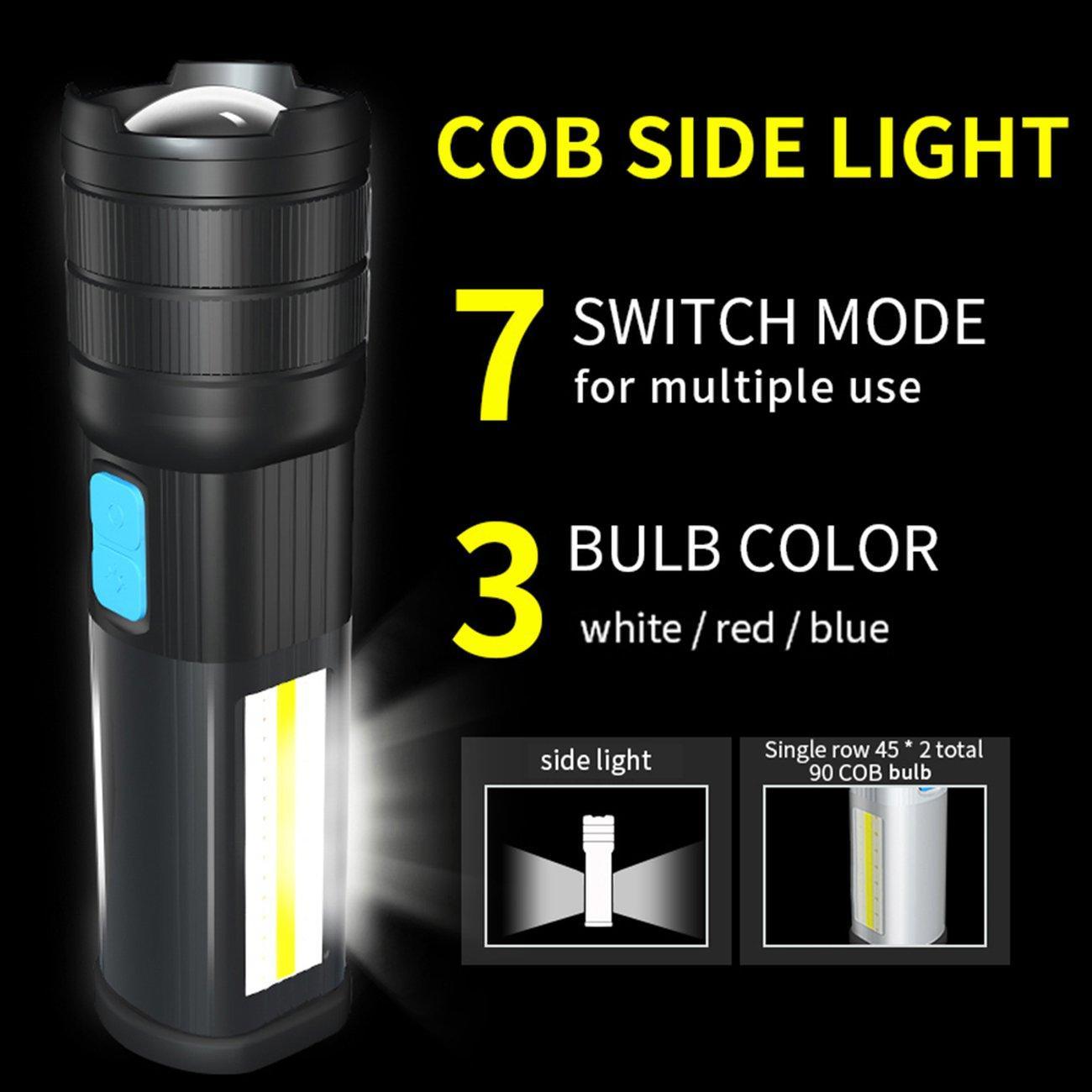 OSMAN Super Bright Aluminum Alloy Flashlight LED Waterproof Emergency Torch