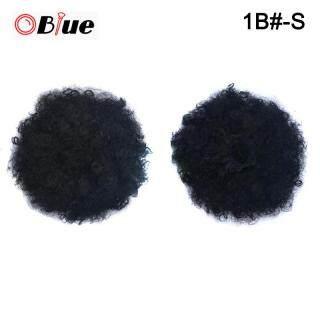 OBlue Wig Rambut Palsu Wanita, Wig Lembut Berantakan Keriting Klip Dalam Rambut Sintetis Ekstensi Rambut 1B -S thumbnail