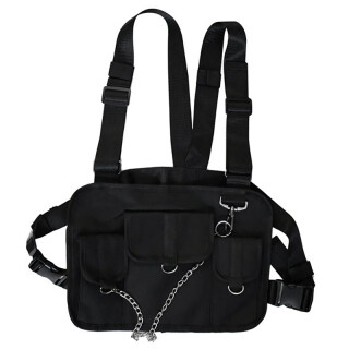 Chest Bag for Men Hip Hop Harness Chest Rig Bag Vest Streewear Women Shoulder Bag Chest Package Waist Pack thumbnail
