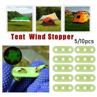 5 10Pcs Nhựa 3 Lỗ Mái Hiên Lều Của Người Da Đỏ Điều Chỉnh Ngoài Trời Cắm Trại Phụ Kiện, Khóa Kéo Căng Dây Buộc Lều Móc Khóa Dây Gió thumbnail