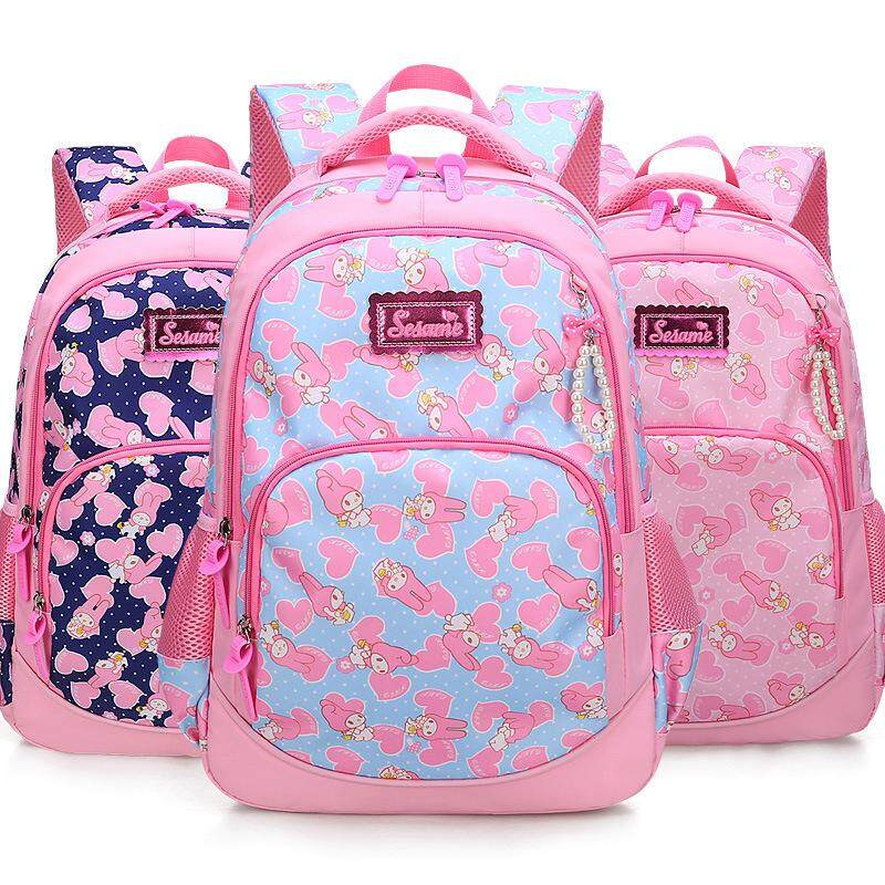 f7ede6ccf72a Korean Style Fashion Cartoon Campus Girls Waterproof Breathable Schoolbag  Shoulder Straps School Bag Book Bag Light