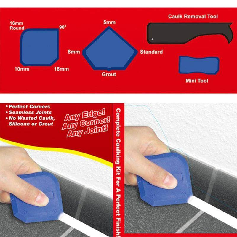 Byssherer 4 PCS Scraper Caulking Sealant Silicone Door Sealer Spreader Spatula Cement Putty Removal Tool Kit