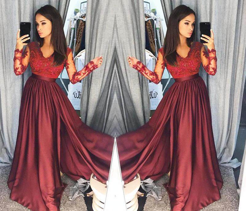 d0f6bbe10847 SUNAIS【Free Shipping + Flash Deal】Women Lace Evening Party Ball Prom Gown  Formal