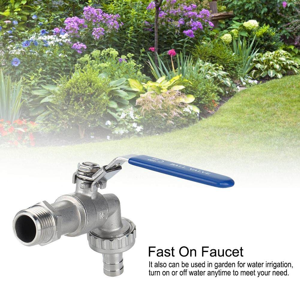 Garden Bibcock 1/2 Homebrew Hose Tape Ball Valve Working Pressure 300PSI Faucet Tap