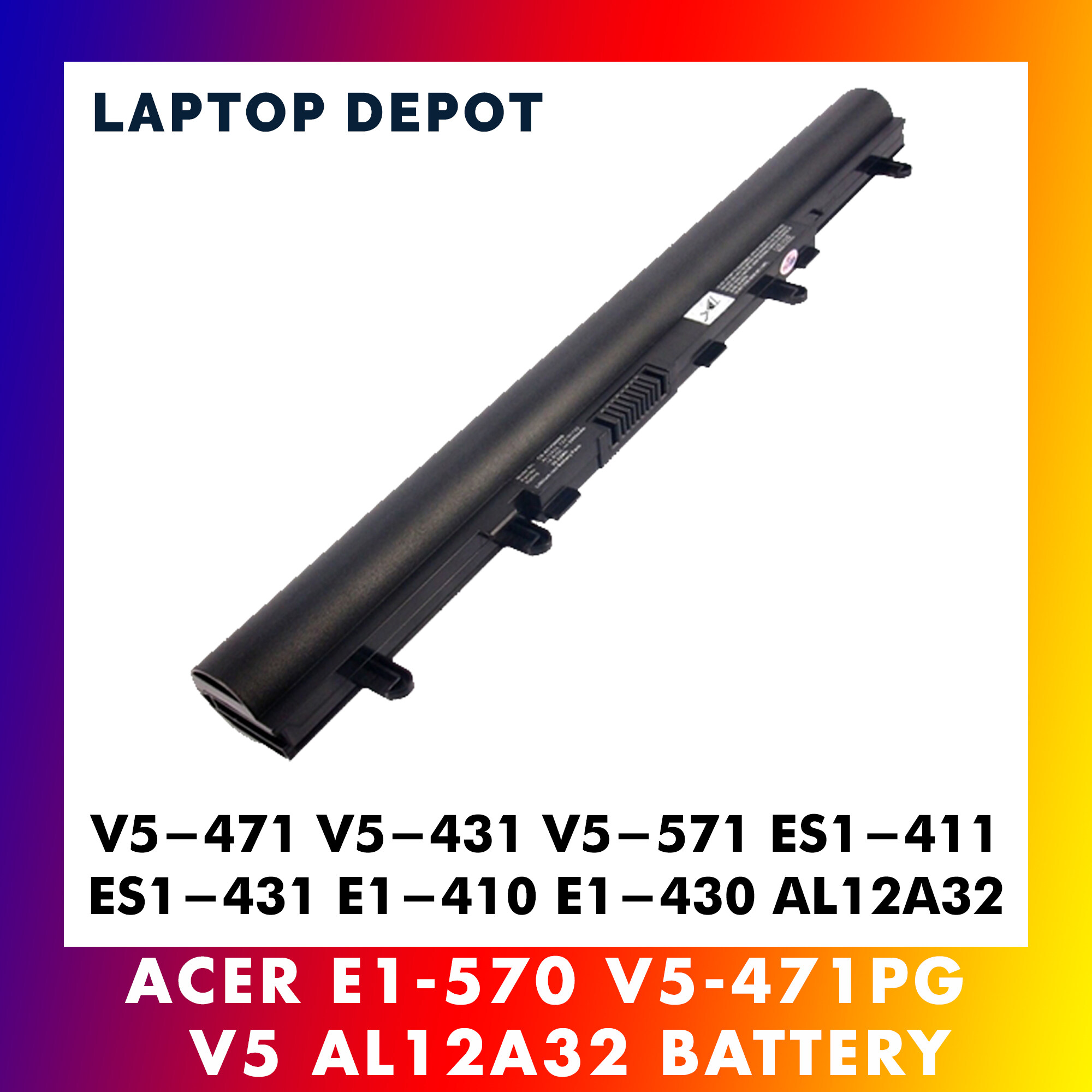 Acer Aspire V5-471 V5-431 V5-571 ES1-411 ES1-431 E1-410 E1-430 AL12A32 Replacement Battery Malaysia