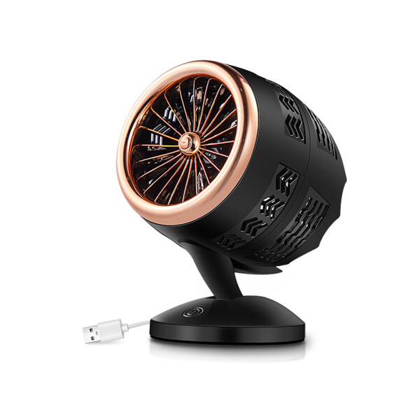 Mini Portable Usb Table Desk Fan Cooling with Twin Turbo Blades,Cyclone Air Circulating Technology 2 Speed Strong Wind Cooler for Home Office Outdoors