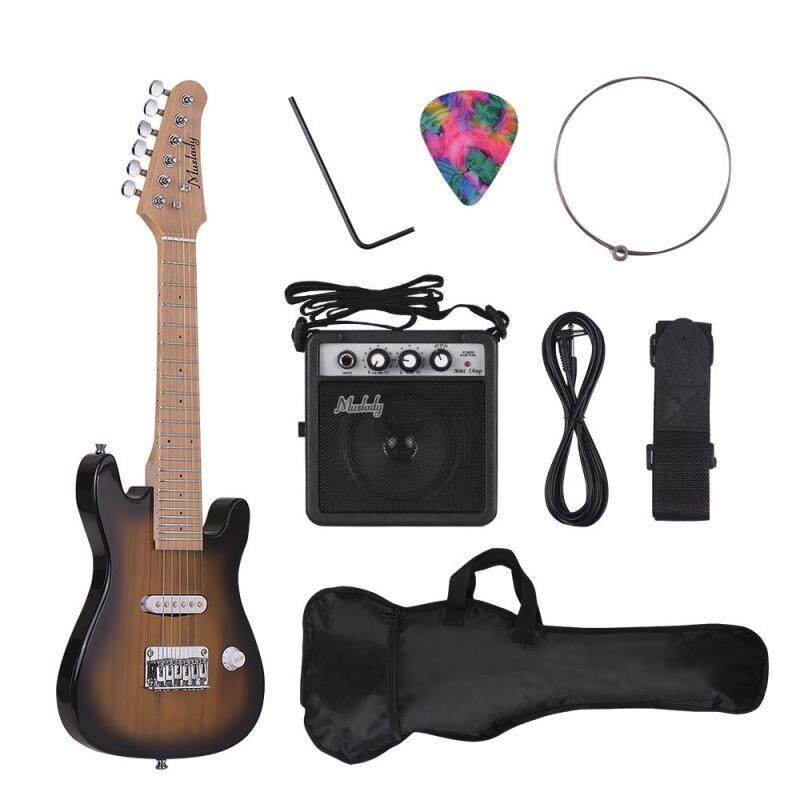 Muslady 28 Inch Kids Children ST Electric Guitar Kit Maple Neck Paulownia Body with Mini Amplifier Guitar Bag Strap Pick String Audio Cable Right-Handed Style Malaysia