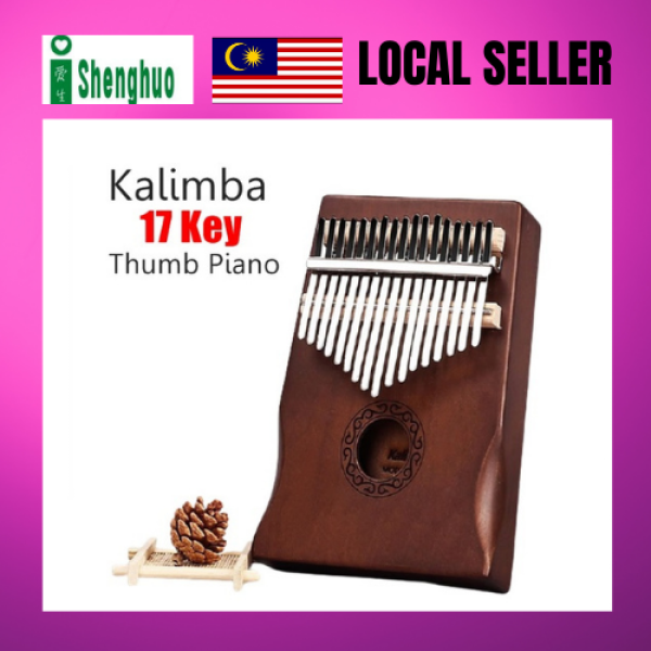 Wooden 17 Keys Acoustic Finger Thumb Piano Kalimba Music Instrument Malaysia