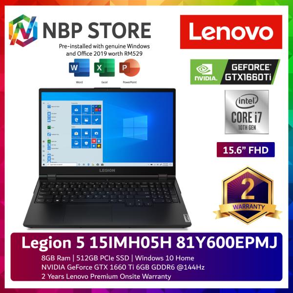 Lenovo Legion 5 15IMH05H 81Y600EPMJ 15.6 FHD 144Hz Gaming Laptop ( i7-10750H, 8GB, 512GB SSD, GTX1660Ti 6GB, W10, HS ) Malaysia