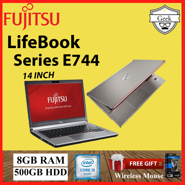 Fujitsu LifeBook Series E744 Core i5-4th gen 8GB RAM 500GB HDD 14 INCH Malaysia