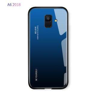 Ốp Điện Thoại Kính Cường Lực Gradient Dành Cho Samsung Galaxy A6 2018 A6 Plus 2018 Ốp Lưng Vỏ Bảo Vệ Cứng Nhiều Màu Bằng TPU Chống Sốc Thời Trang Sang Trọng thumbnail