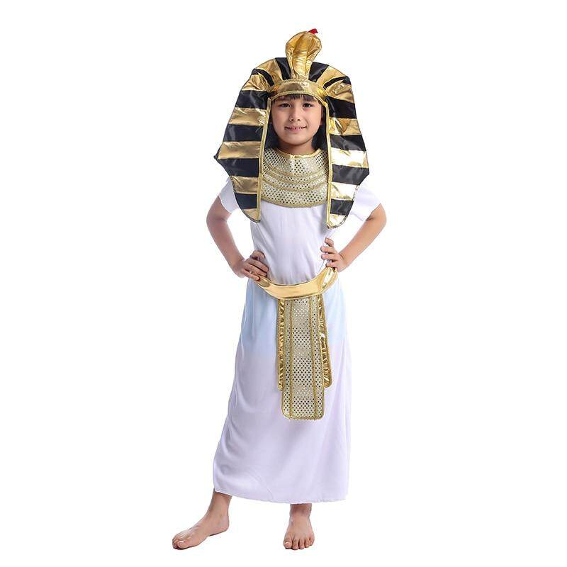 Boys Egyptian Pharaoh King Tut Historic Halloween Fancy-Dress Costume