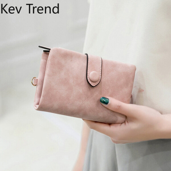 Womens Short Wallet Small Trifold PU Leather Clutch Vintage Short Card Holder Purse Elegant Credit Card Holder Free Shipping From Kev Trend
