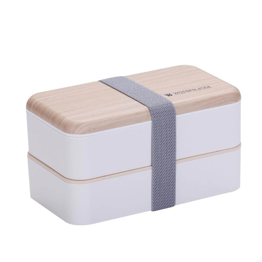 Japanese-style Lunch Box Portable Double-layer Separated Lunch Box Microwave Oven Heating Mess Tin for Students Office Worker