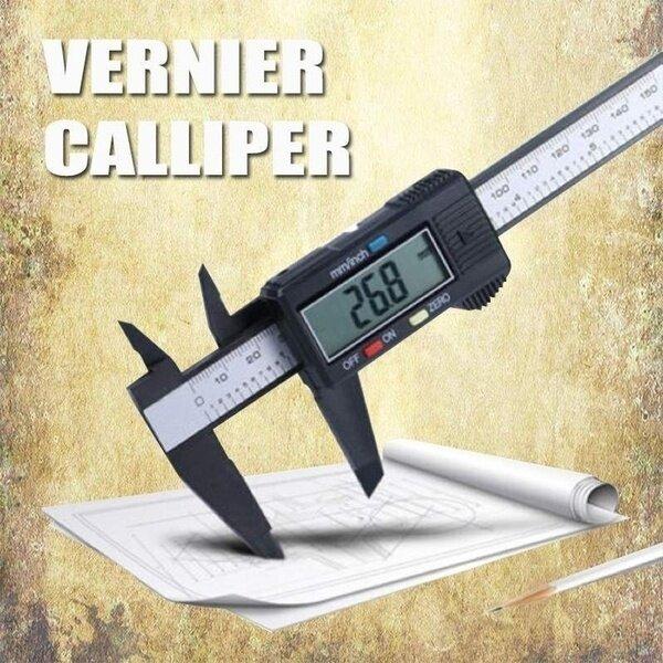 Blesiya 0-6  Electronic Digital Vernier Caliper Measuring Micrometer Guage with LCD