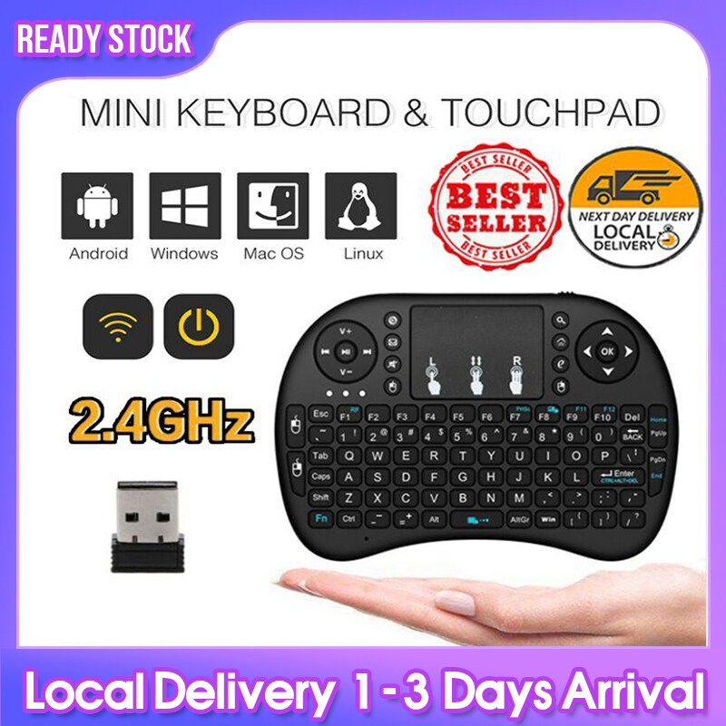 Mini i8 Wireless Gaming Keyboard 2.4GHz English letters Fly Air Mouse Remote Control Touchpad For Google Android TV Box Notebook Tablet Pc  Htpc, Iptv Malaysia