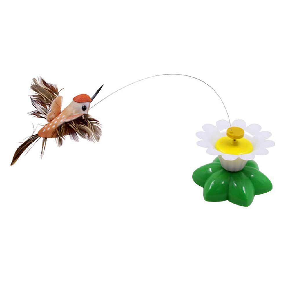 C-S Cats Electric Toy, Electric Flying Bird Around The Flower Interactive Toy (bird,multicolor)color Random Delivery By Crazy-Store.