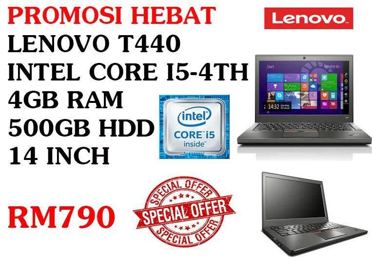 LENOVO T440 INTEL CORE I5-4300u 4GB RAM 500GB SSD 14 INCH Malaysia