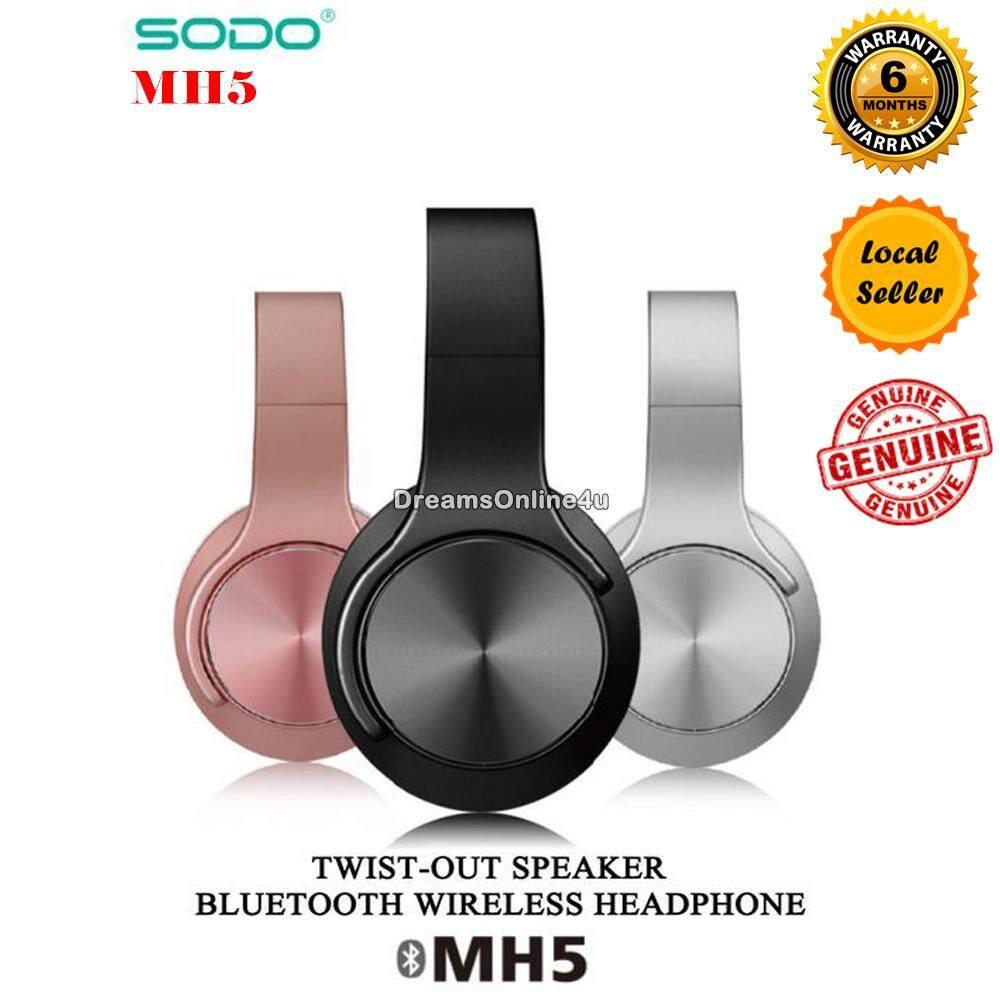 SODO MH5 NFC 2 in 1 Twist-out Speaker Bluetooth 4.2 Wireless Headphone AUX TF