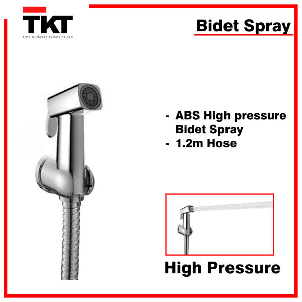 [READY STOCK] TKT Silver Chrome Bidet Import Quality TKT Marketing Bathroom Selves Storage Mirror Combo