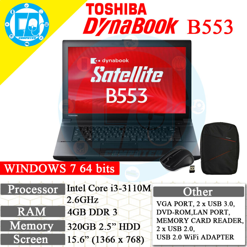 TOSHIBA DYNABOOK B553 RECON LAPTOP/NOTEBOOK Malaysia