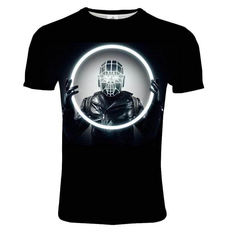 AC/DC Lengan Pendek T-shirt Pria Fashion Doodle Cetak Aku T Shirt Lucu T Kemeja Tee Atasan Pria Tshirt Biasa 3D Tshirts