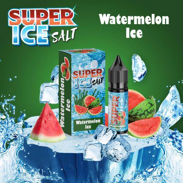 Super Ice Salt 15ML ( Apple Ice / Grape Ice / Honeydew ice / Lemonade Ice / Lychee Ice / Mango Ice / Peach Ice / Pomegranate Ice / Strawberry ice / Watermlon ice ) Vape Juice Ready Stock Malaysia
