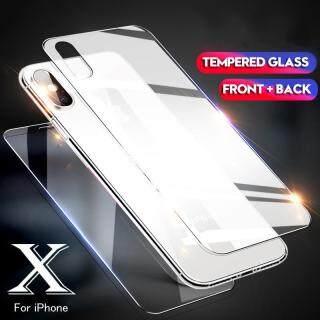Mặt Kính Bảo Vệ Trước Và Sau Cho Iphone Tấm Dán Màn Hình Kính Cường Lực Cho Iphone X XS XS Max XR 4 5 6 7 8 6Plus 7Plus 8Plus thumbnail
