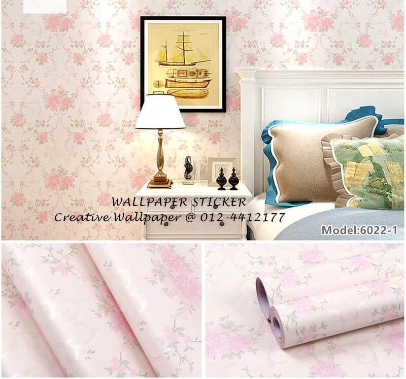 Wallpaper Sticker Pvc-(1 roll=Rm 30, 4 roll=Rm 100) Flower Design 45cm*10meter