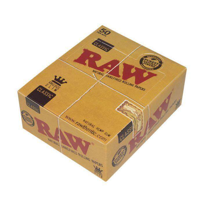 RAW Classic King Size Slim Paper (1 box = 50 booklets)