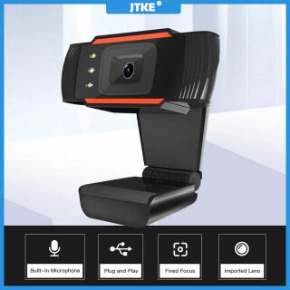 Webcam JTKE USB 2.0 Mạng Máy Tính Camera Trực Tiếp Camera Mạng USB Cam HD 1080P USB Máy Tính Camera Với Mic Web thumbnail
