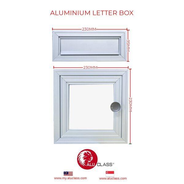 ⚡READY STOCK⚡ Aluminium Outdoor Letter Box Panel Set (Head & Tail) ALUCLASS ONLINE MY