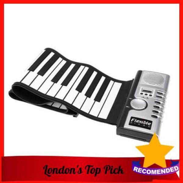 [ London ] Flexible Roll Up Electronic Soft Keyboard Piano Portable 61 Keys (Black) Malaysia