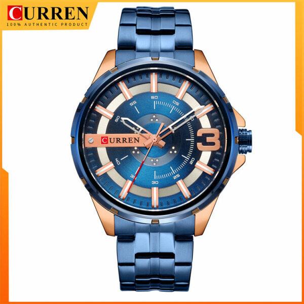 CURREN Luxury Brand Mens Business Watch Fashion Quartz Stainless Steel Wristwaches Waterproof 8333 Malaysia