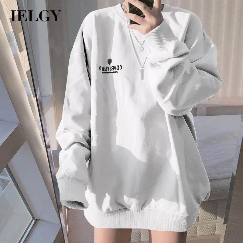 Áo Len Mỏng Tay Dài IELGY Cho Nữ, Dáng Rộng, Mặc Hàng Ngày, Phong Cách Hàn Quốc