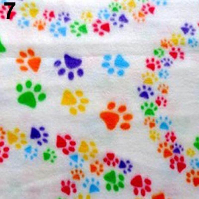 Huanhuang®Mèo Cưng Mèo Con Chó Con Mùa Đông Chăn Ấm Khăn Giường Khăn Lông Cừu Mềm In Hình Móng