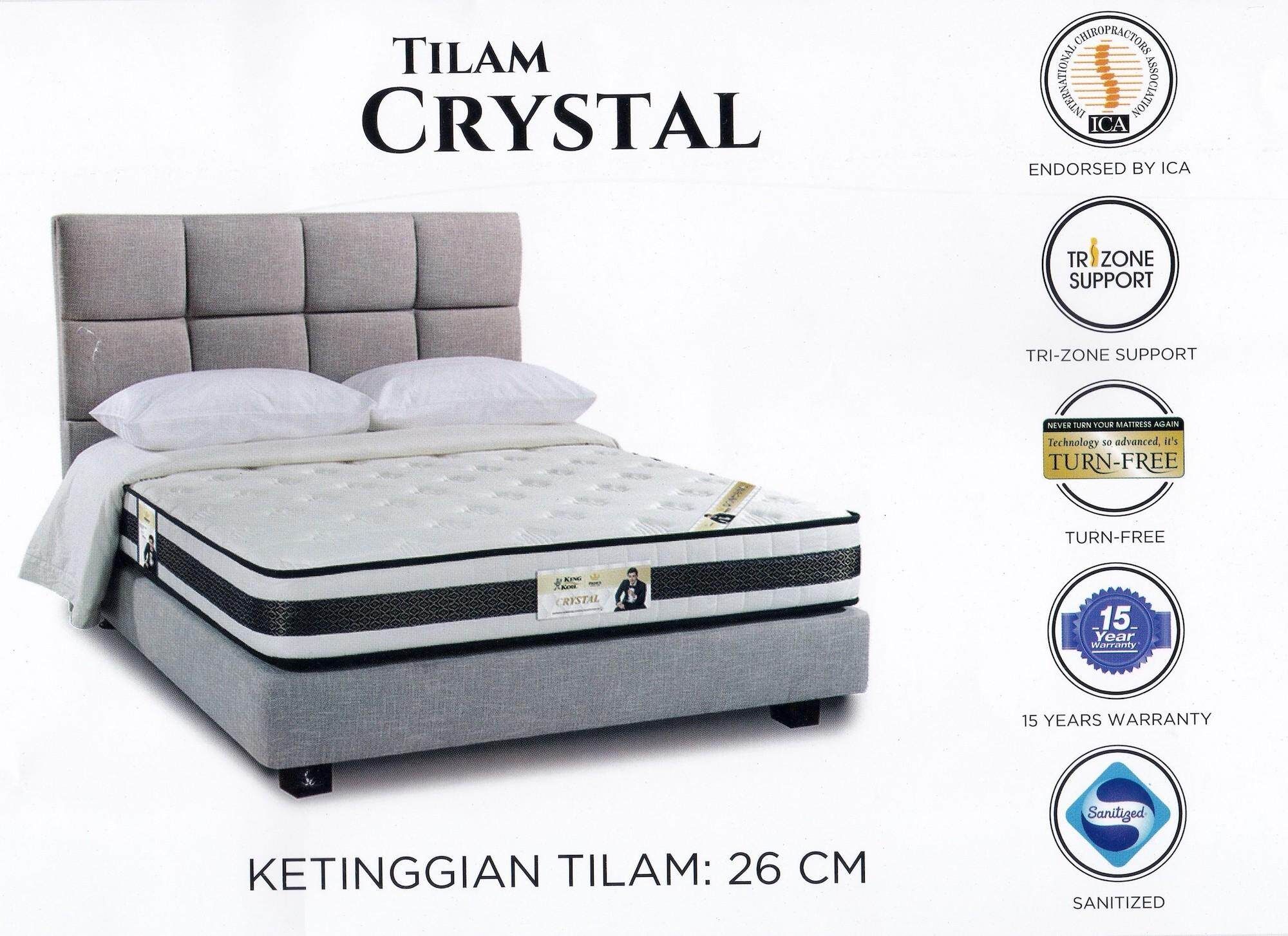 bcff39d4f2017 King Koil Prince Collection CRYSTAL 10 Inches Chiropractic Coil Spring +  Fiber Mattress   Tilam With