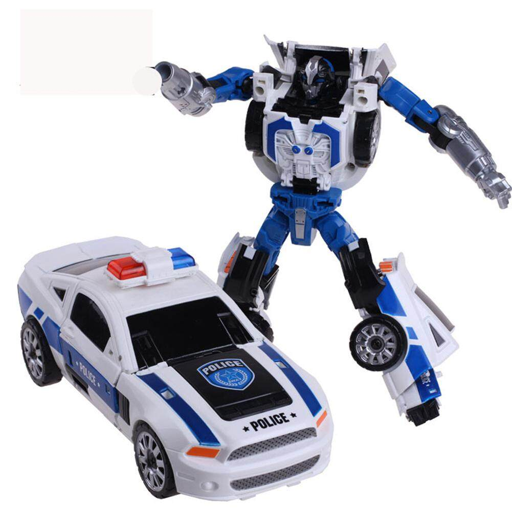 HobbyLane 5 In 1 Transformation Robot City Secure Team Police Car Motorcycle Helicopter Airship SUV