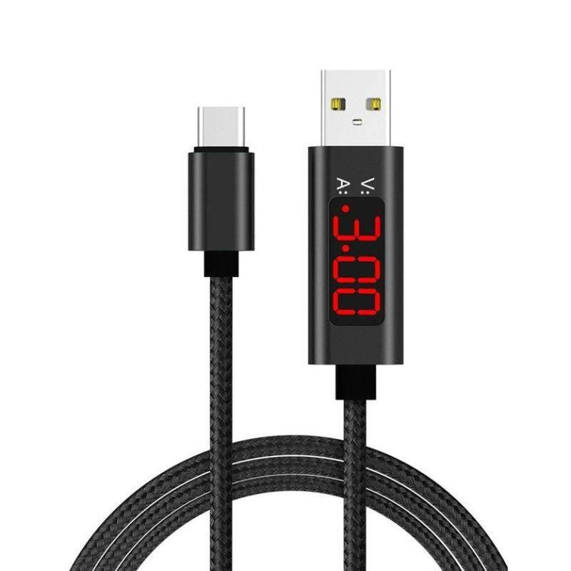 Bảng giá TOP 1.2 m USB Type C Cáp Màn Hình LED Hiển Thị Điện Áp Hiện Tại Nylon Bện Cáp Dữ Liệu USB Phong Vũ