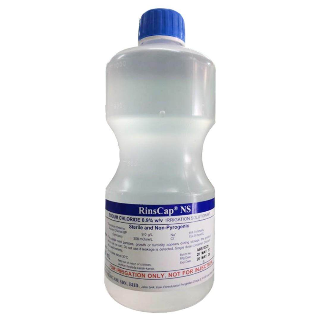 Rinscap Normal Saline Sodium Chloride 0.9% Irrigation Solution Bp - 1000ml By Smart Care Pharmacy.