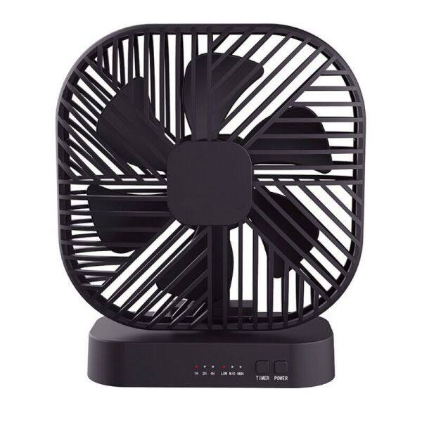 Magnetic Mini Fan USB or 4x AA Battery Powered Desk Fan with 3 Speed Timing Function Personal Fans for Camping Office
