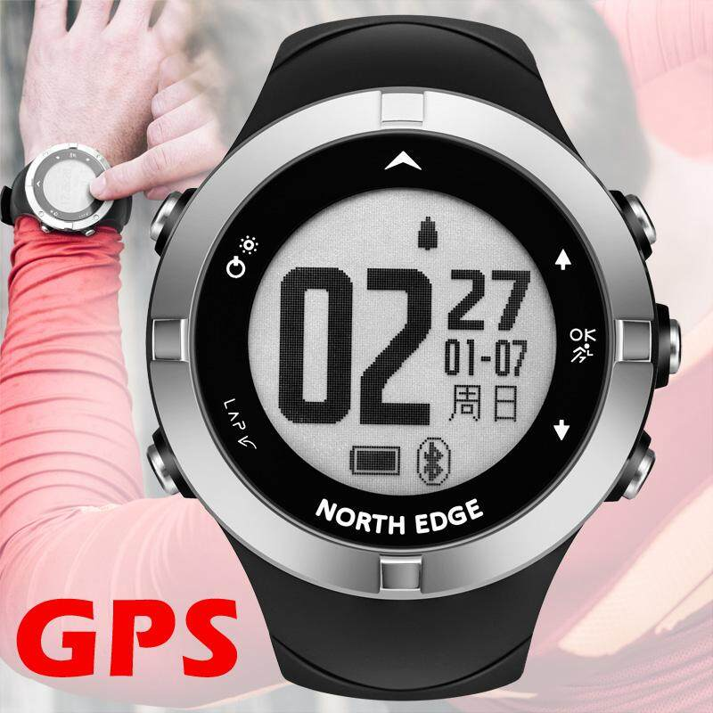 Digital Watches North Edge New Men Sport Smart Digital Watch Heart Rate Monitor Watches Outdoor Running Altimeter Barometer Compass Hiking Hour