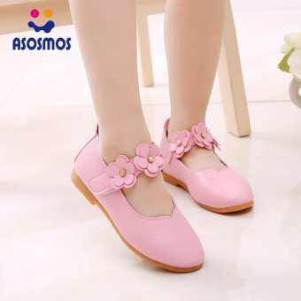 ASM สาวสามมิติรองเท้าหนังดอกไม้เล็กๆลื่นรองเท้าเจ้าหญิงน้ำหนักเบาระบายอากาศ