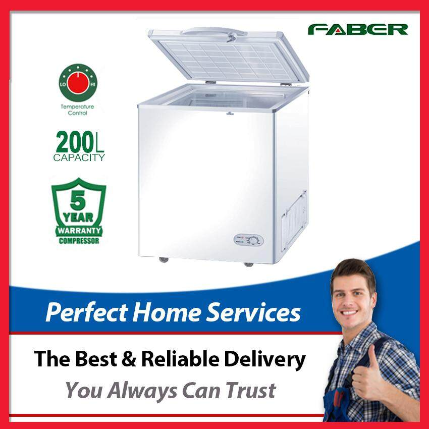 (Limited Time Offer) Faber New 200L (FZ-F228) Chest Freezer with Key Lock, Express Direct Shipping Within Klang Valley
